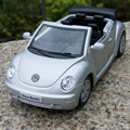 Caliente venta 1 unid 12 cm escarabajo volkswagen cabriolet aleación modelo de coche envío gratis