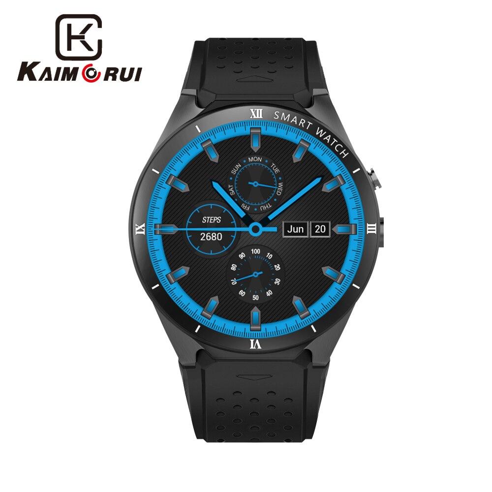 Kaimorui Relógio KW88 Pro Android 7.0 os Inteligente Smartwatch 1GROA + 16GRAM Apoio Cartão SIM GPS Bluetooth Relógio homens inteligentes para IOS