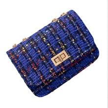 Designer Fashion Women's Shoulder Bag New Arrival Quality Woolen Cloth Messenger Bag Female Casual Crossbody Bag