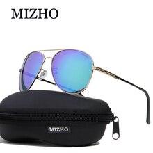 купить MIZHO Brand Design Stainless Steel Metal Retro Sunglasses Men Polarized Pilot Traveling Luxury UV400 SUN Glasses Ladies Driving по цене 1641.35 рублей