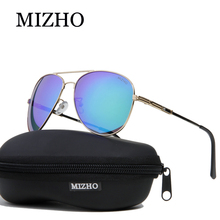 MIZHO Brand Design Stainless Steel Metal Retro Sunglasses Men Polarized Pilot Traveling Luxury UV400 SUN Glasses Ladies Driving