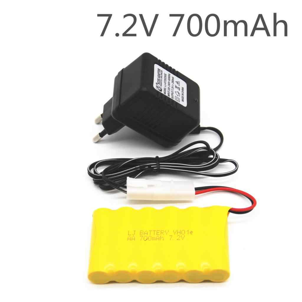 7.2v 700mah AA NI-CD Battery With 7.2v Charger Set For Electric toys car Telerobot boat Remote control Tank L6.2-2P Plug