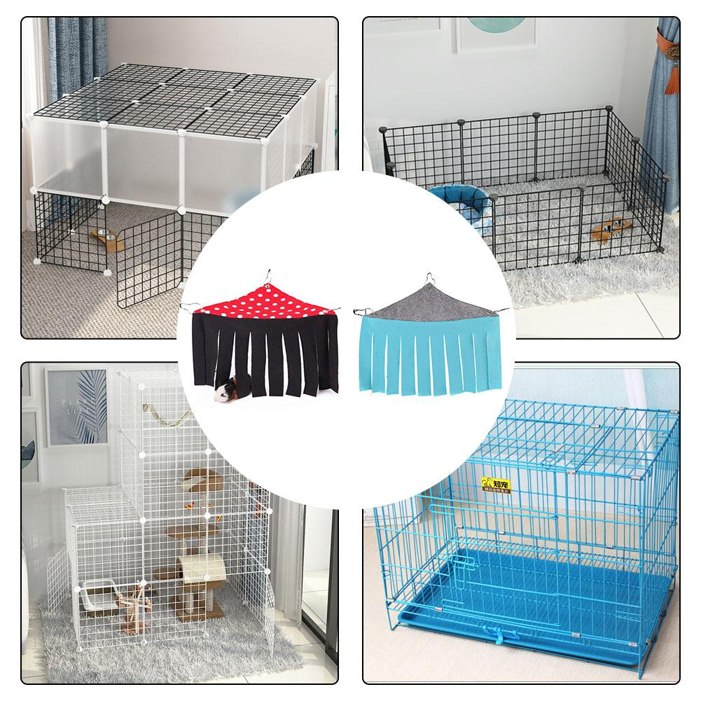 Small Pet 39 s Tent Hideout Hideaway Hammock Hanging Bed Tassel Corner Nest Create Safty Rest For Hedgehog Guinea Pig Hamster in Cages from Home amp Garden