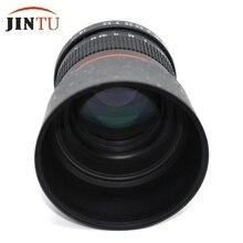 Jintu 85 мм f/1.8 портрет Асферические телефото Руководство объектив для Nikon D4S DF D4 D810 D800 D750 D610 D600 D500 D5200 D5100 D3400