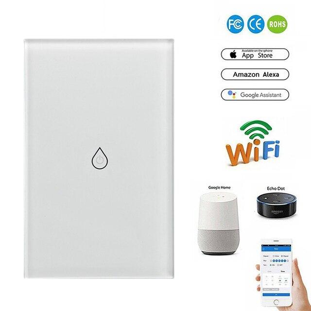 Interruptor de calentador de agua inteligente Wifi interruptor de caldera Alexa Google Home Voice US temporizador estándar al aire libre Control remoto dropshipping