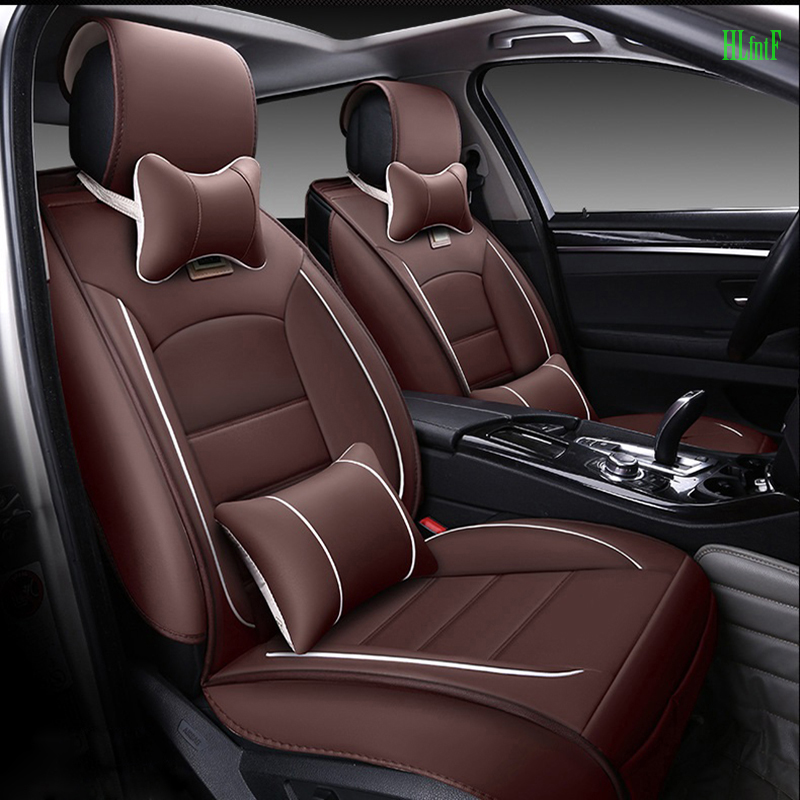 (Front and Rear) luxury Leather Car Seat Covers For Dacia Sandero Duster Logan car accessories car-styling seat cushion brand new styling luxury leather 5 color 3d car seat covers front