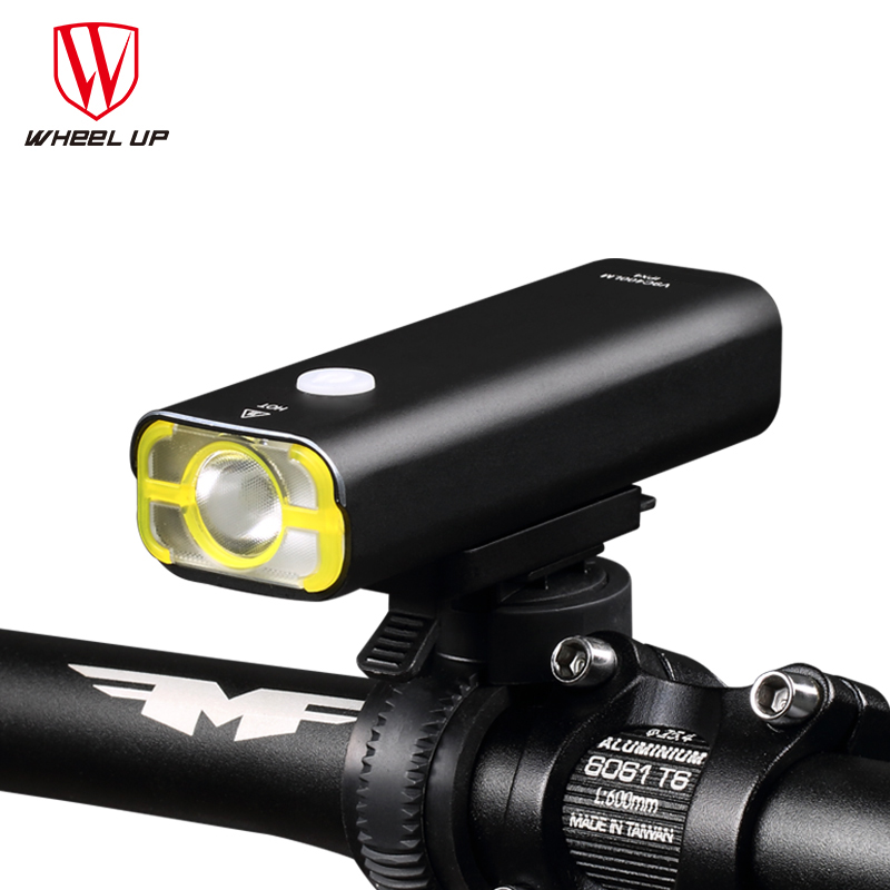 WHEEL UP Waterproof Bicycle Light USB Rechargeable Bike light MTB Mountain Road Front Handlebar Torch Cycling LED Light wheel up bike head front light usb rechargeable mountain road bicycle lights waterproof headlamp night cycling accessories k3006