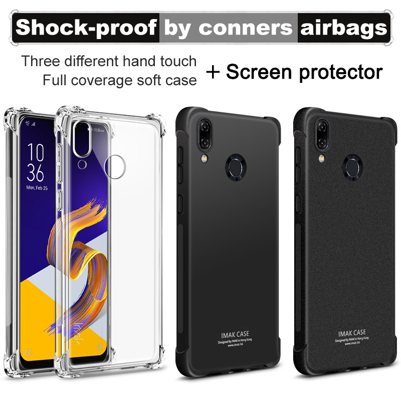 sFor Asus Zenfone 5 ZE620KL Case for Asus Zenfone 5 ZE620KL Cover Full Coverage Imak Soft TPU Case With Screen Protector