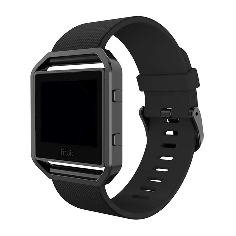 For Fitbit Blaze Band, Silicone Strap Replacement Strap with New Rose Gold Frame for Fitbit Blaze Smart Fitness Watch fohuas for fitbit blaze bands soft silicone replacement sport strap band for fitbit blaze smart fitness watch no frame page 1