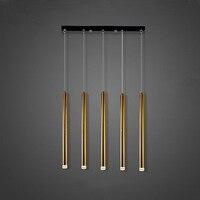 Ceiling Lamp LED Lights Tubular Long Design 5heads Luxury Modern Aviation Aluminum Dining Room Bar Bright