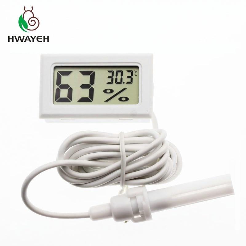 Brand New Digital Mini LCD Digital Thermometer Hygrometer Fridge Freezer Temperature Humidity Meter White Egg Incubator