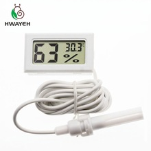 цена на Brand New Digital Mini LCD Digital Thermometer Hygrometer Fridge Freezer Temperature Humidity Meter White Egg Incubator