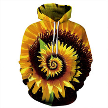 2019 New Fashion Men/Women 3d Hoodies Print Sunflower Designed Sweatshirts Unisex Hooded