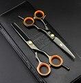 2 Japón Kasho tijeras de Alta Calidad Tijeras + Bolsa + Peine 5.5/6.0 Pulgadas Profesional Peluquería Tijeras de Corte de Pelo Peluquero Shear Set Salón