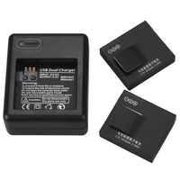 Neue 1010mAh AZ13-1 Batterie mit USB Batterie Ladegerät Für Xiaomi Yi Action Kamera Ersatz Batterie Wiederaufladbare Backup Bateria