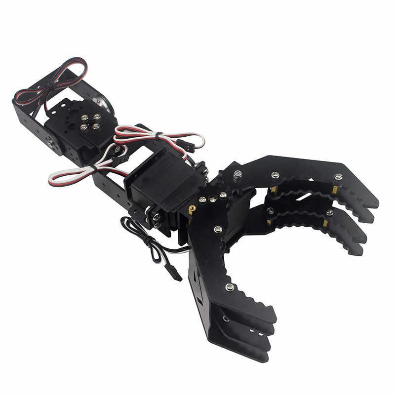 Bricolage 4DOF Robot bras griffe titulaire avec/sans 4 pcs numérique Servo LD-1501MG LDX-335 pour RC jouet modèles pièces accessoires
