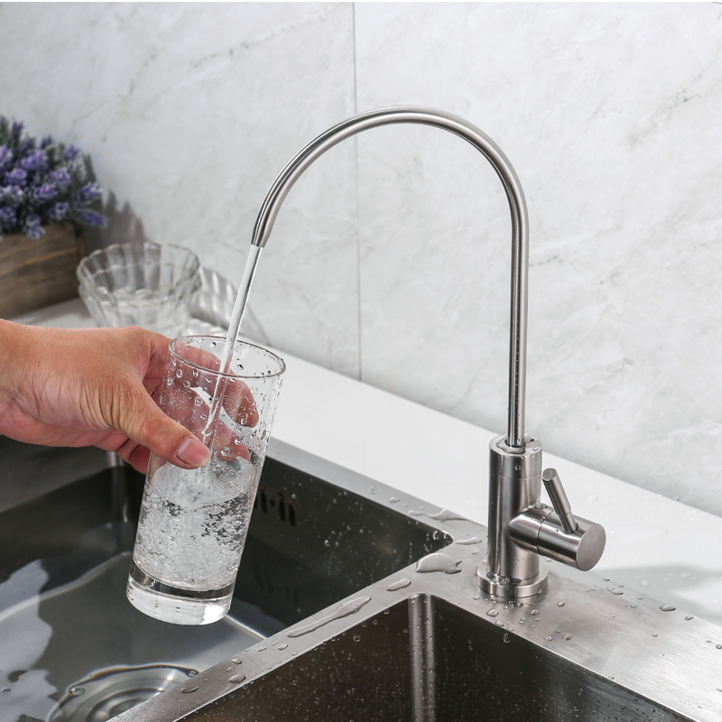 IVRICH Drinking Water Tap total leadfree stainless structure RO Faucet Filter Purify System Reverse Osmosis used PU01-1