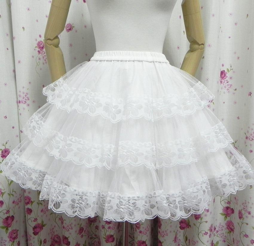 0af1cf668a0e37 Jupe princesse Palace Vintage jupe jupon douce Kawaii Lolita jupe dentelle  jupon été doublée fond jupe noir blanc