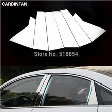 ACCESSORIES FIT FOR HYUNDAI SONATA LF 2015 2016 CHROME WINDOW PILLAR POST COVER TRIM MOLDING GARNISH 6PCS/SET(China)