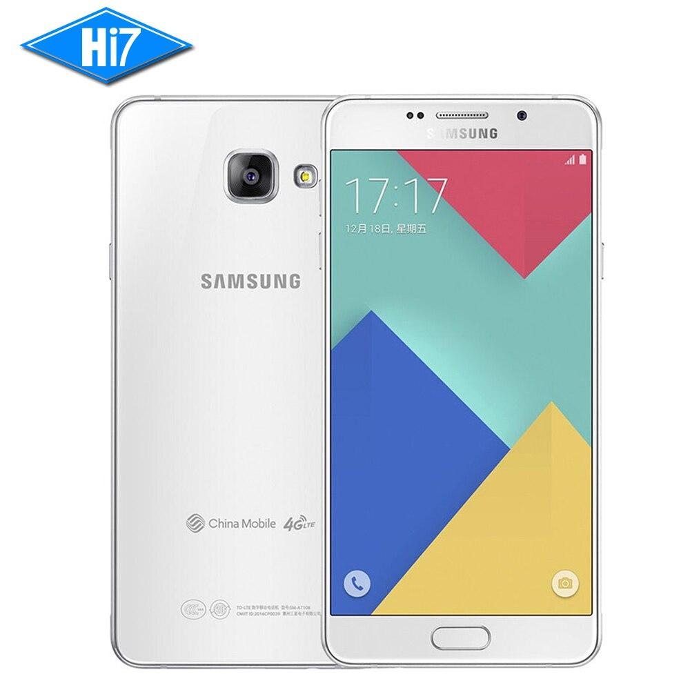 Original Samsung Galaxy A7 A7100 2016 Mobile Phone Dual Sim 55 16gb 3300mah 3gb Ram Rom 13mp 4g Lte Fingerprint Smartphone In Phones From