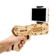 Portable Bluetooth AR Gun Augmented Reality Shooting Games DIY Toy Gun for Android iOS Phones