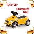 Regalo de año nuevo SLK55 cuatro ruedas columpio coche niños torcedura del coche coche de bebé de seguridad paseo juguetes de niño del deporte fuera del coche de la velocidad