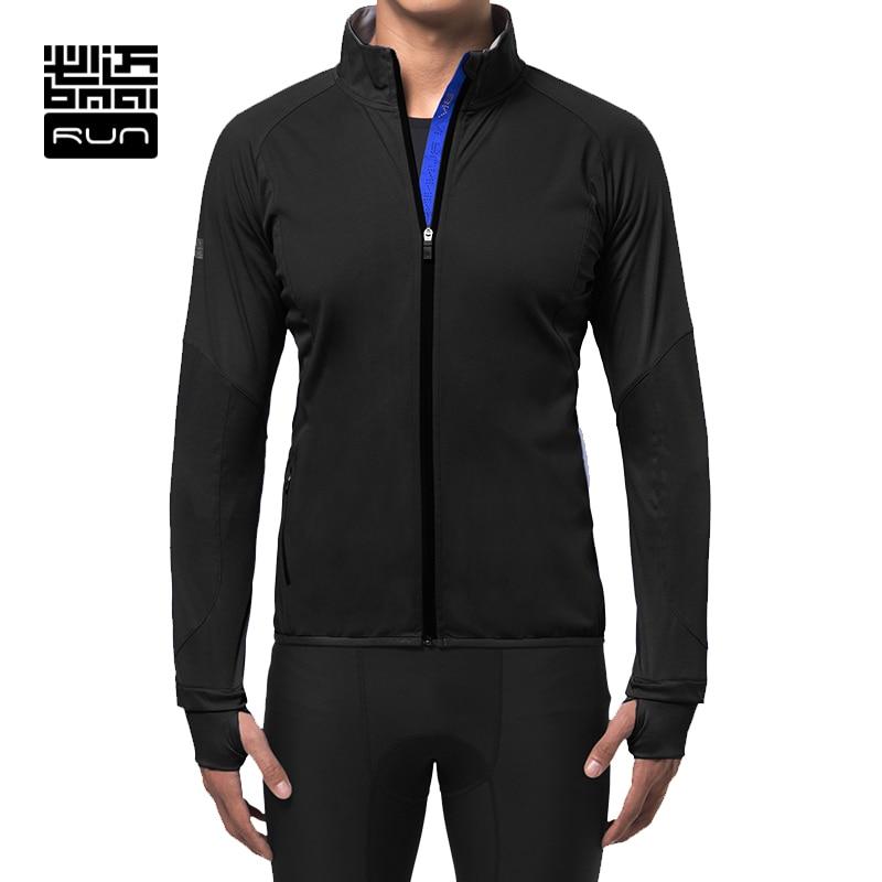 ФОТО BMAI Running Jacket Man Warm Fitness Breathable Wind-proof Outdoor Sports Jacket Long Sleeve Sport Coat FRWB005