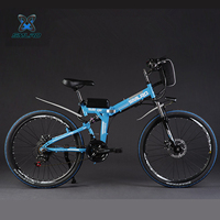 24 26 Inches Big Power Lithium Battery Foldable Electric Bike Mountain Electric Bicycle EBIKE MTB With