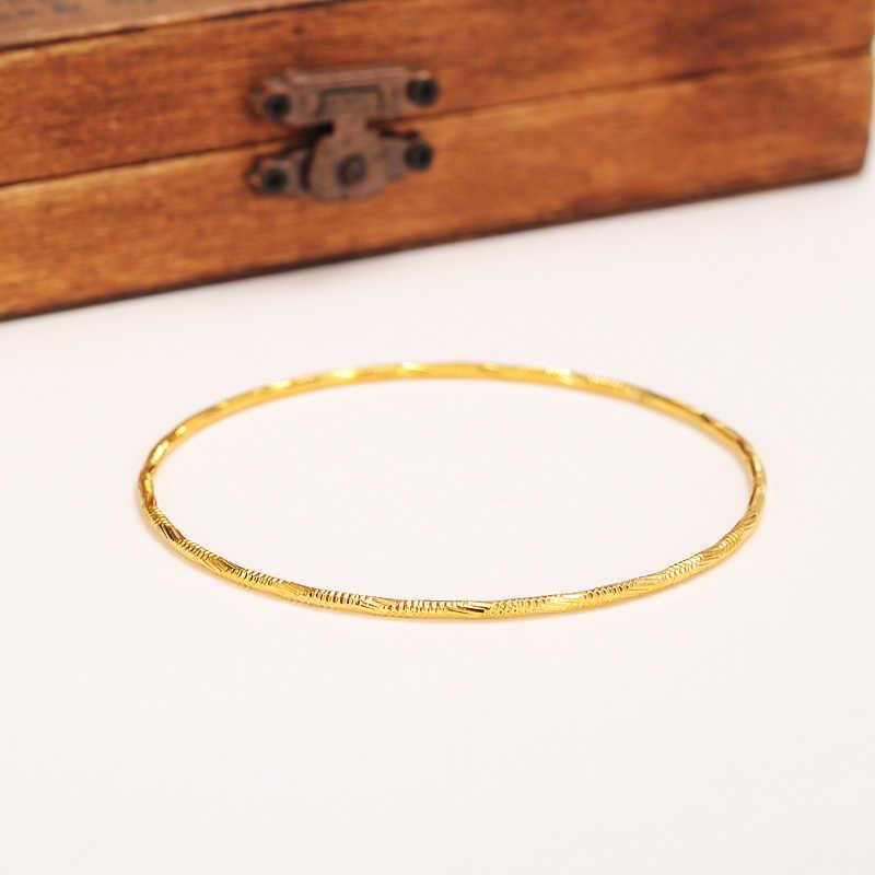 Bangrui Bán Buôn Vàng Màu Ethiopia bangle vòng tay bangle Phụ Nữ Châu Phi trang sức Vàng Dubai vòng tròn lớn bangles