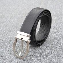 2019 Pure Steel Buckle Belt Head Leather Men Belt Business Steel Buckle belt Buckles Fashionable belt fashionable skull and letter shape embellished belt buckle for men