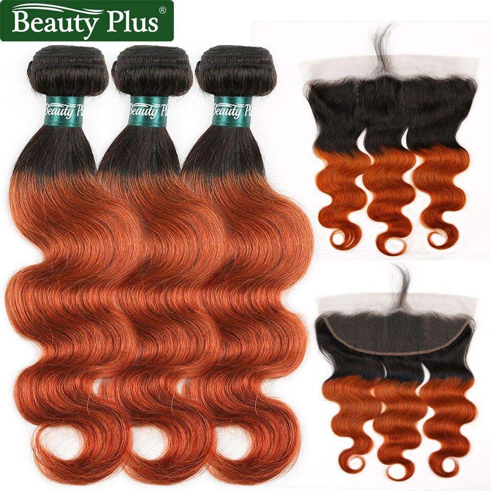orange body wave hair bundles with closure ear to ear  (9)