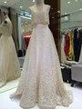 MYEDRESSHOUSE Couture Completa Perla Rebordear Vestido de Noche Largo Fake 2 Unidades Del Televisor 17MYED027
