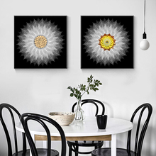 Modern Creative Mandala Decorative Painting Posters and Prints Wall Art Canvas Flower Pictures For Living Room No Frame