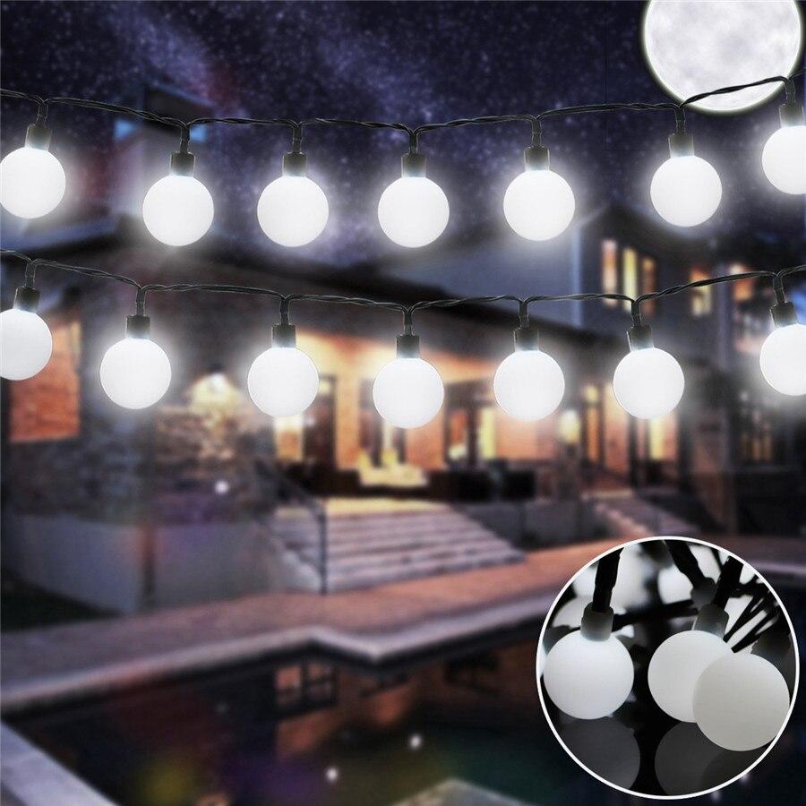 5/7M Solar Power String Lights Bright Cherry balls Atmosphere Garden Decor Outdoor Lighting Xmas LED Garland Party Fairy Lights