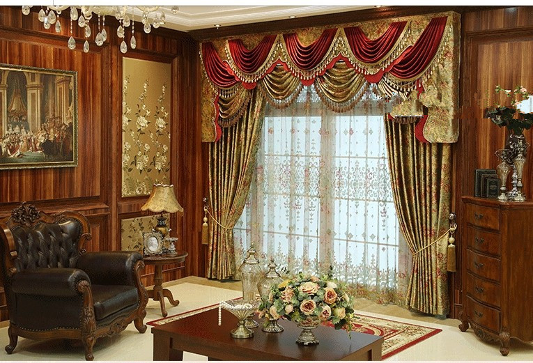 Buy european style palace grade bronzing - European style curtains for living room ...