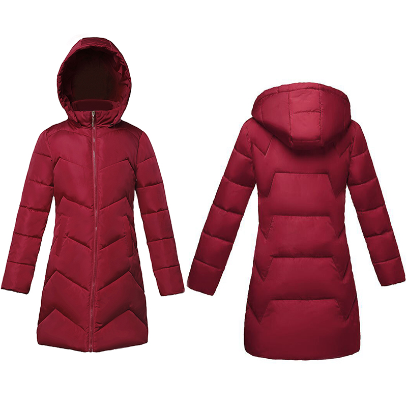 Plus Size S- 6XL Women Hooded Winter Coat Slim Warm Women Winter Jacket Female Long Parkas Womens Wadded Coats Jaqueta Feminina(China)