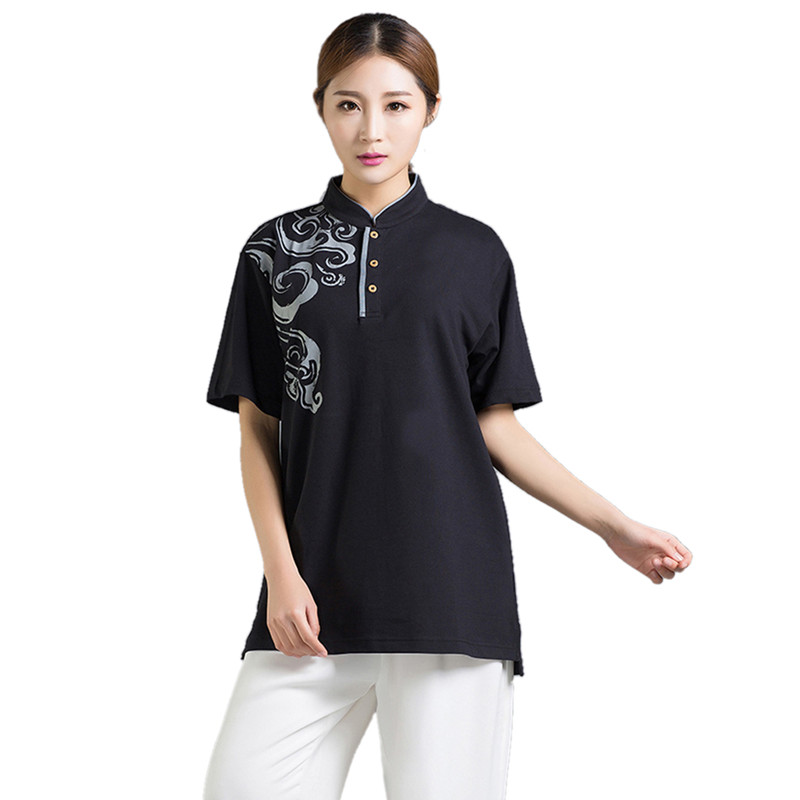 Summer Unisex Short Sleeve Martial Arts Shirts Tai Chi Top Breathable Kung Fu Clothing Comfortable Wushu Clothes 4 colors 2016 summer unisex popular breathable work clothing short sleeve workwear absorbent comfortable clothes for factory