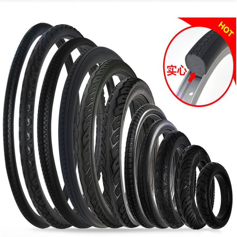 14 20 24 26 inch bicycle solid tire lithium electric car tire mountain bike tire inner tube tire free inflatable