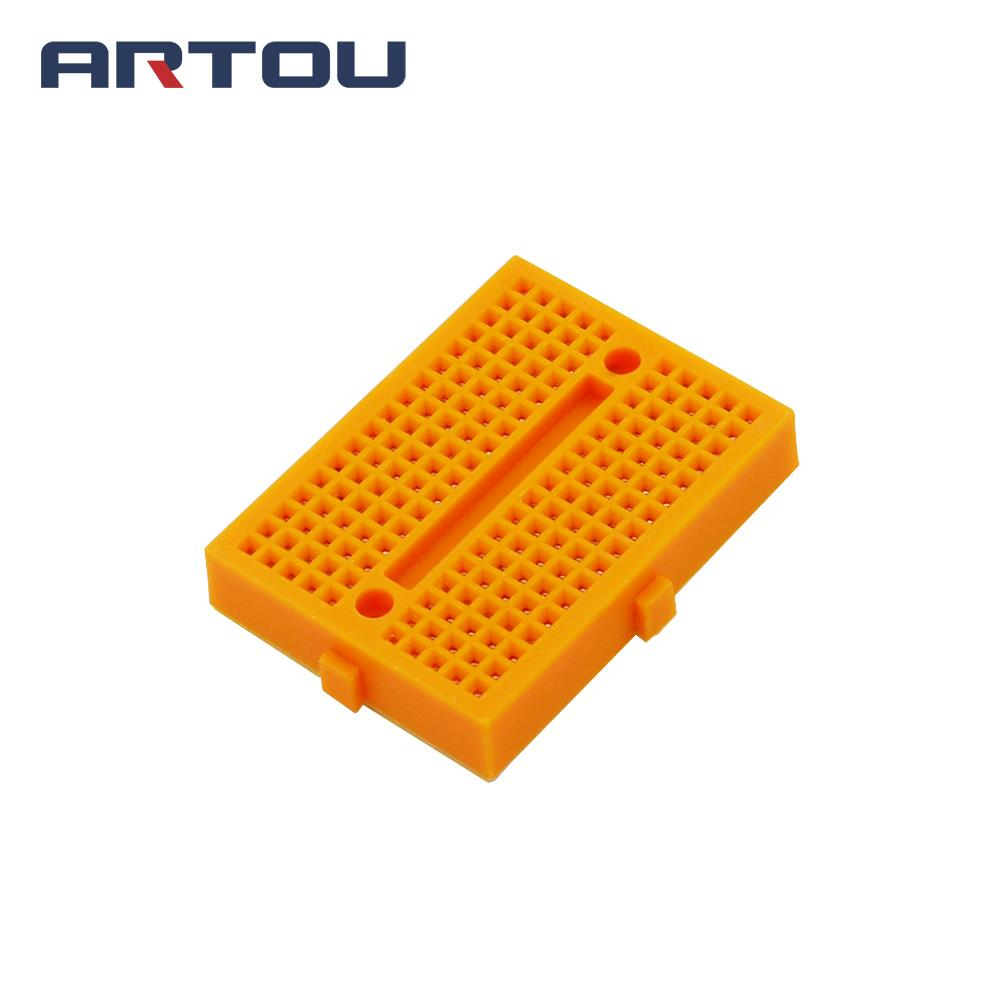 1PCS Yellow Mini Solderless SYB-170 Mini Solderless Prototype Breadboard 170 Tie-points Prototype Breadboard