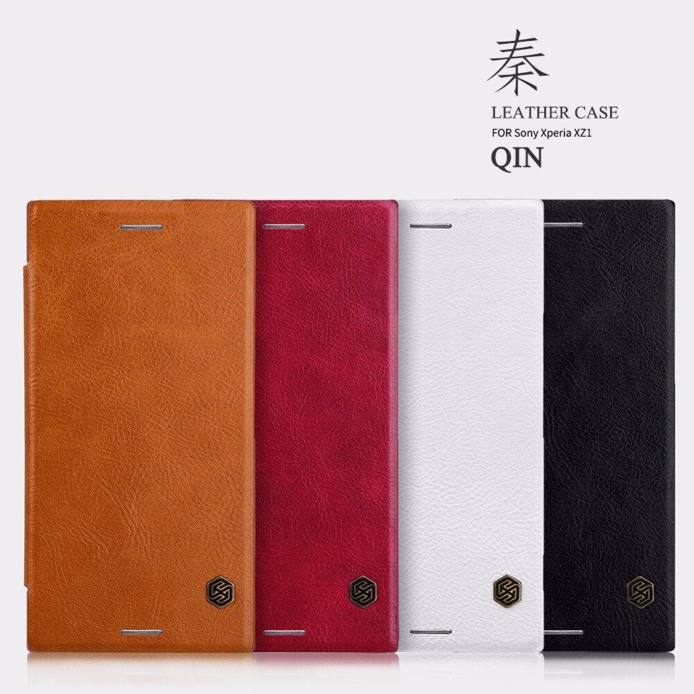 Cas De NILLKIN Pour Sony Xperia XZ1 QIN Série Filp En Cuir portefeuille cas de Couverture Pour Sony Xperia XZ1 couvercle Cas Avec Carte de Poche