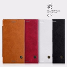 NILLKIN Case For Sony Xperia XZ1 QIN Series Filp Leather wallet Case Cover For Sony Xperia XZ1 lid Case With Card Pocket