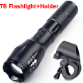 3800LM LED Flashlight CREE XML T6 LED Headlight Front Bike Bicycle Waterproof Head Light + Torch Holder ZK93