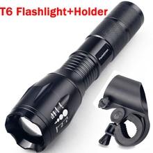 3800LM LED Flashlight CREE XML T6 LED Headlight Front Bike Bicycle Waterproof Head Light + Torch Holder