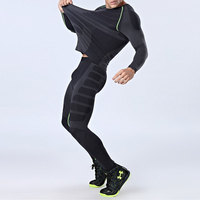 2017 Running T Shirt And Pants Men Compression Tights Underwear Sets Crossfit Bodybuilding Fitness Sport Jerseys