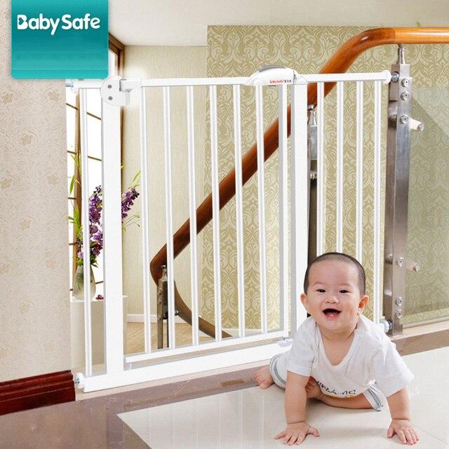 משלוח חינם! 95-194 cm תינוק בטיחות דלת בר, מדרגות מעקה גדר לחיות מחמד כלב גדר הפרדת ברזל דלת מדרגות שער