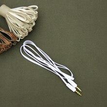 Авто верхняя Лапша Aux Стерео 3,5 мм 1 м Автомобильный штекер к м AUX вспомогательный звук стерео кабель для передачи данных и аудио MP3