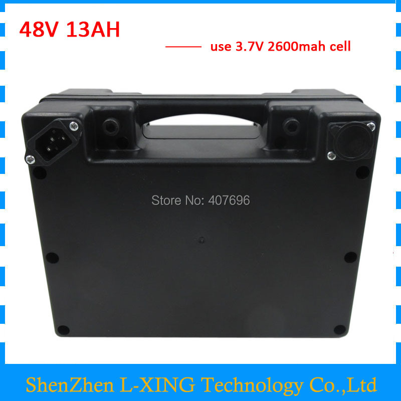 48volt scooter battery 48V 13AH 48 V ebike Lithium ion battery 13AH with waterproof black case 20A BMS 2A Charger free shipping free shipping 5s 18 v and 21 v pcb protection circuit board lithium ion battery and bms 20a discharge with constant current