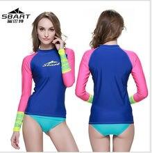 Women's rash guard Diving skins wetsuit jacket swimsuit swimwear female windsurf surf clothes Wet suit