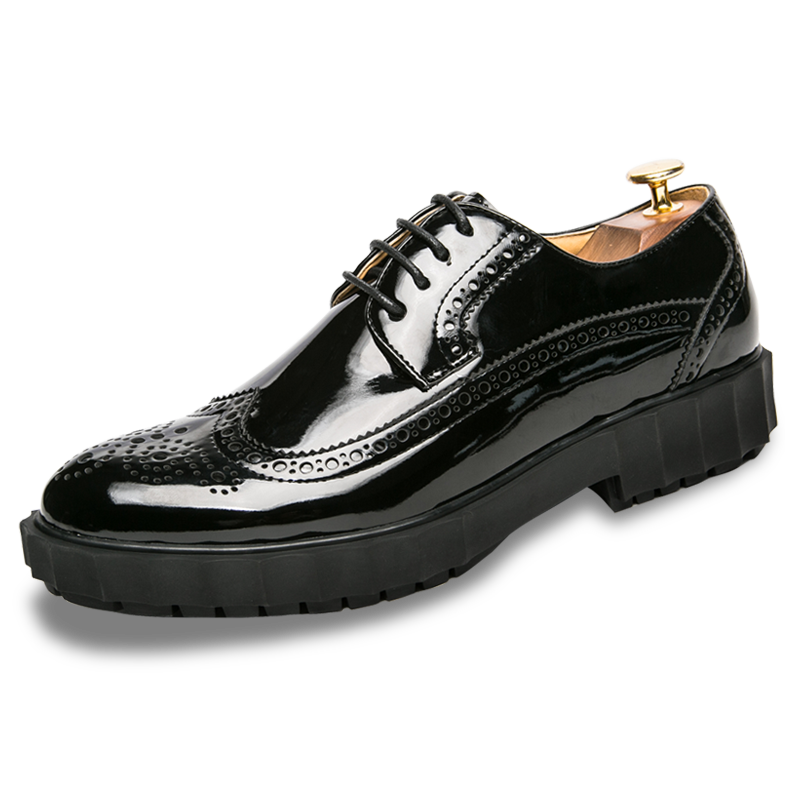 Men Dress Shoes Luxury Brand Lace Up Male Fashion Business Pointy Black Shoes Spring Summer Man Formal Wedding Shoes mycolen men s dress shoes black brogue male soft wedding shoes lace up formal dress shoes new luxury brand tide men shoes