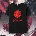 Rwby rubí camisetas kawaii Anime japonés camiseta Manga camisa roja linda de la historieta remolque shirts Cosplay